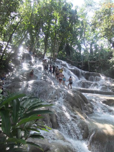 Ochios Rios Falls Jamaica