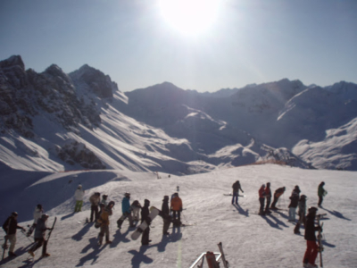Skiing in the Alps