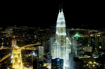 Kuala Lumpur from KL Tower in the night. Malaysia